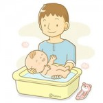 赤ちゃんのお風呂は男の役割?