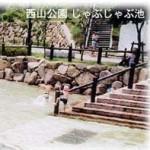 京都の長岡京市にある西山公園のじゃぶじゃぶ池に行ってきた
