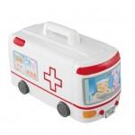 ぽぽちゃんの病院に変身する救急車がお気に入り